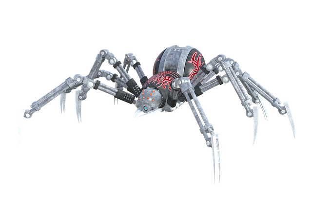 Artists impression of a robotic spider. Public domain image.