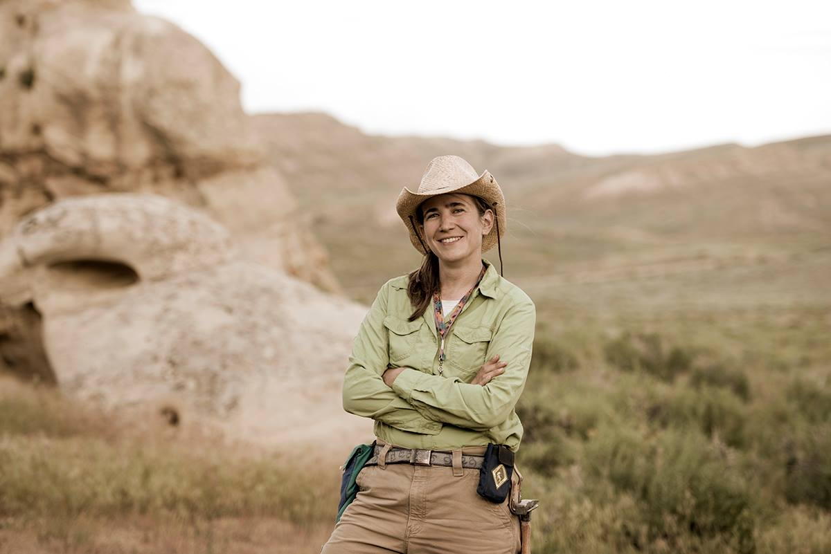 Photograph of Dr Ellen Currano from the University of Wyoming. Courtesy Ted Brummond, all rights reserved.